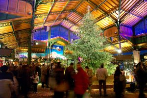 Christmas at a beautiful market in Montreux, Switzerland where Le Coucou is located.