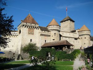 The Castle of Chillon, which is now a museum, at the Caux/Montreux region.