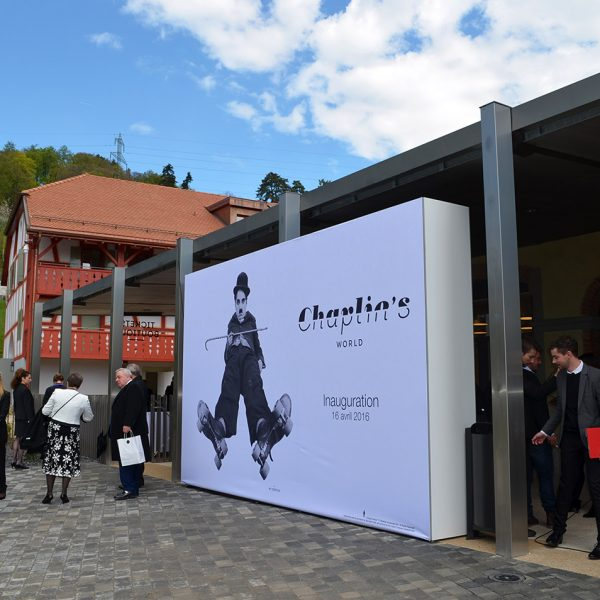 The exterior of Chaplin Museum at the Caux/Montreux region in Switzerland.